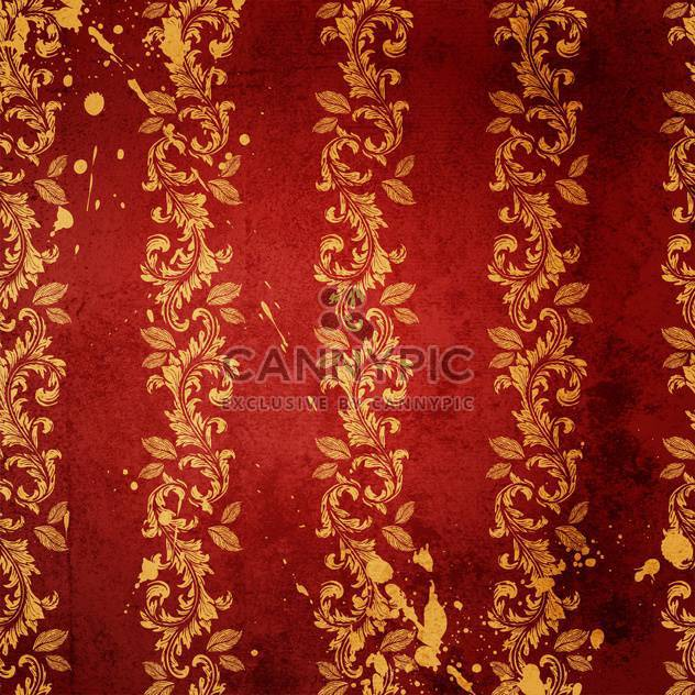 floral damask background vector - Free vector #133645