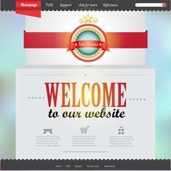 vector template of abstract website design - vector gratuit #133705