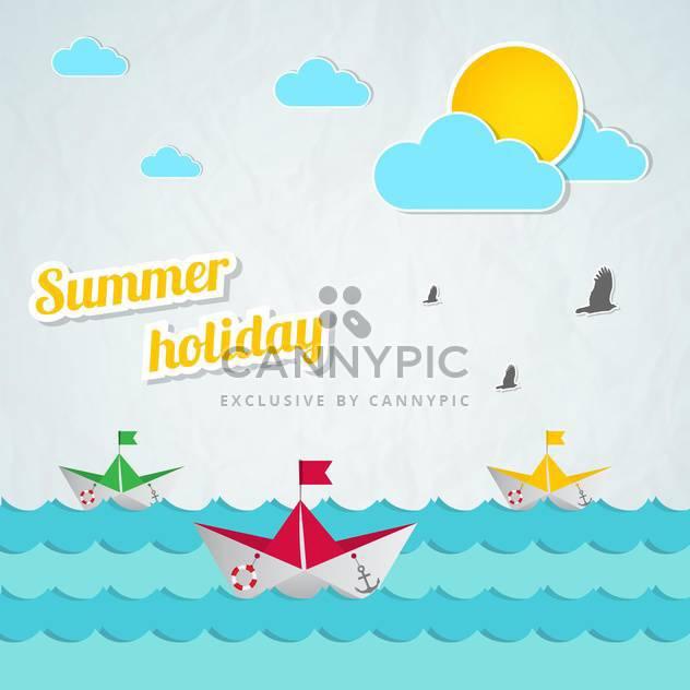 Sommer Urlaub Vektor Hintergrund - Kostenloses vector #133745