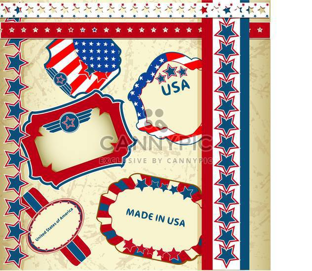 made in usa emblems background - Free vector #133755