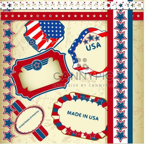 in Usa Embleme Hintergrund gemacht - Kostenloses vector #133755
