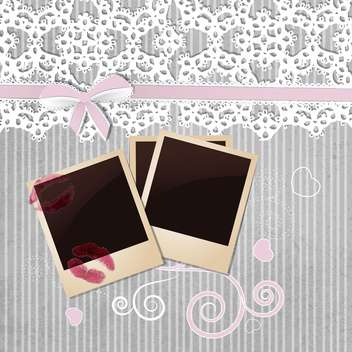 photo frame on grey background - Kostenloses vector #133805