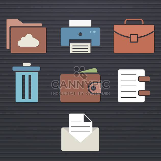 finance and business icon set - Free vector #133885