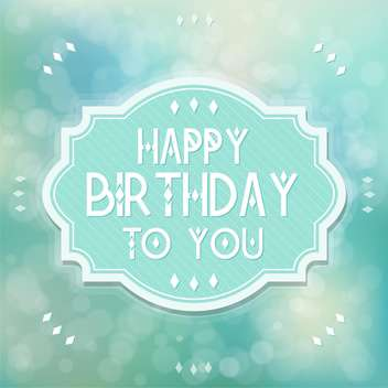 vintage birthday card background - Free vector #133905