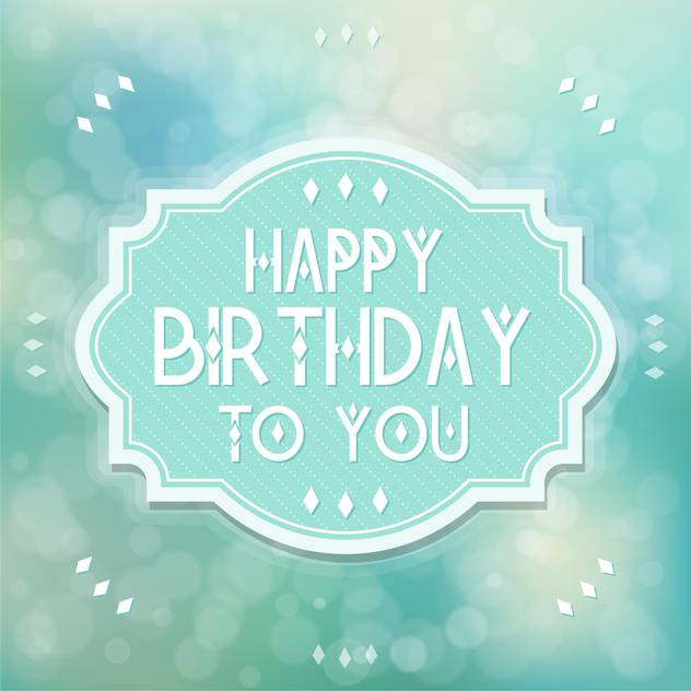 vintage birthday card background - vector gratuit #133905