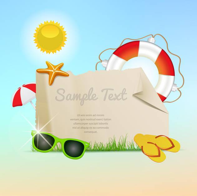 retro styled summer banners - Free vector #133915