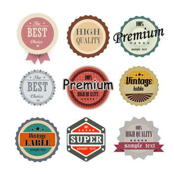 collection of high quality labels - vector #133925 gratis