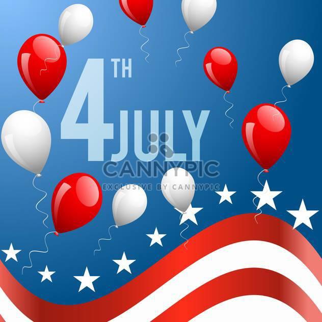 amerikanischen Unabhängigkeitstag-Hintergrund - Free vector #133935