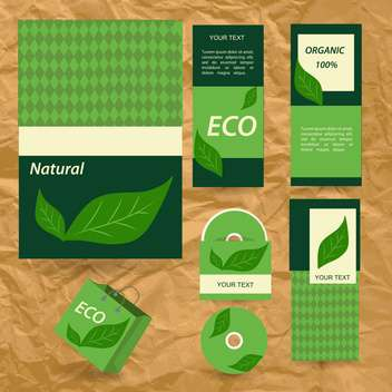 selected eco corporate templates - vector gratuit #133945