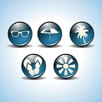beach icons vector illustration - Free vector #133965