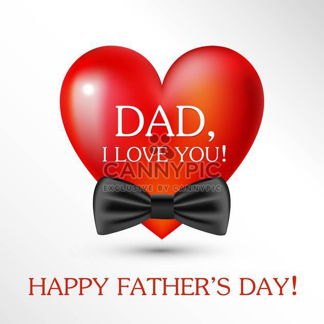 happy father's day card background - Free vector #133985