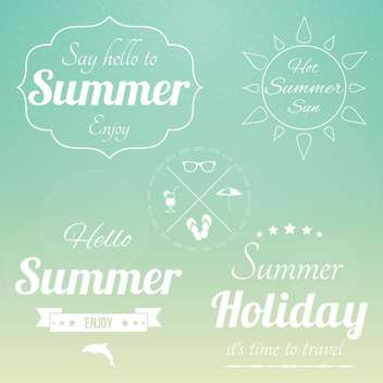 retro summertime vintage background - vector gratuit #134045