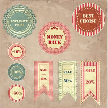 shopping sale signs background - Free vector #134065