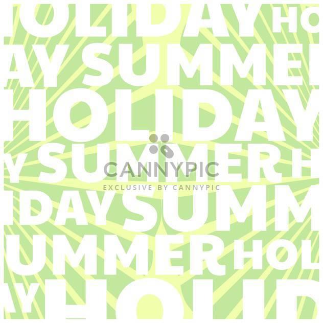 Sommer Urlaub Vektor Hintergrund - Free vector #134095