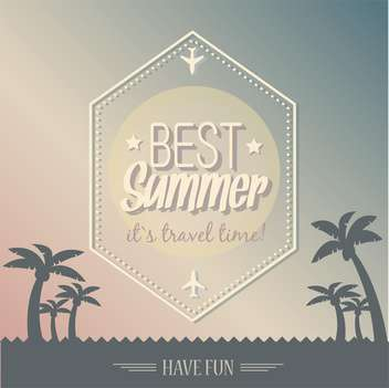 vintage summer poster background - vector gratuit #134185