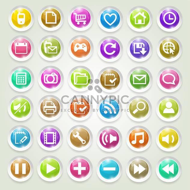 Medien-Icons Vektor-Satz - Kostenloses vector #134245