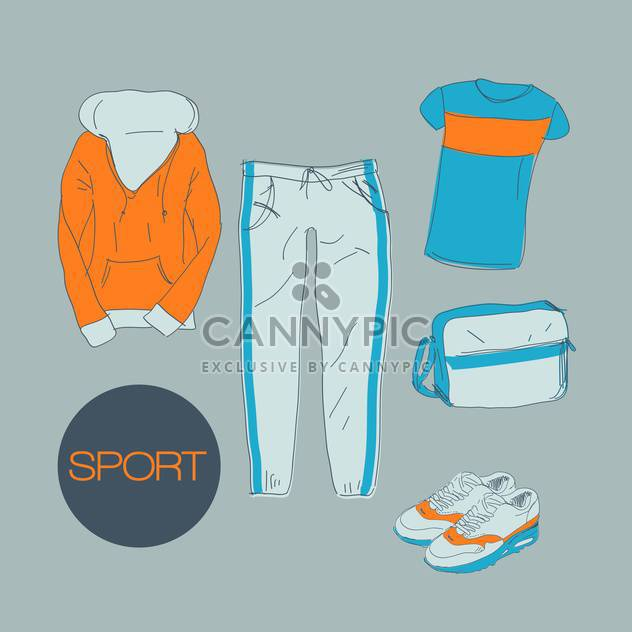 sports clothes vector illustration - Free vector #134285