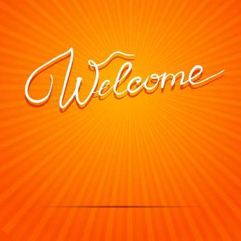 welcome inscription vector picture - vector gratuit #134315