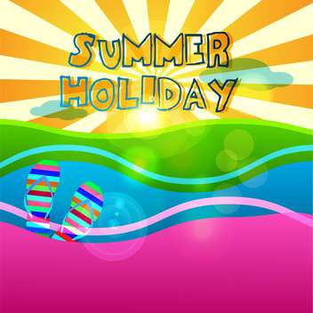 summer holiday vacation signs set - vector gratuit #134365
