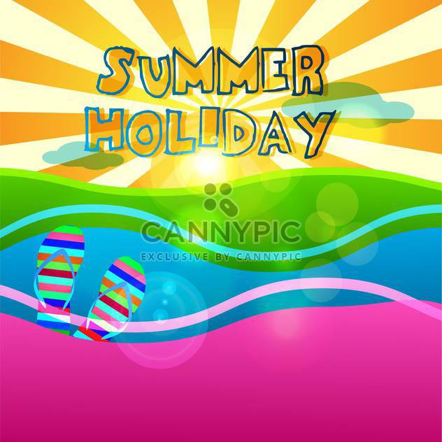 summer holiday vacation signs set - Free vector #134365