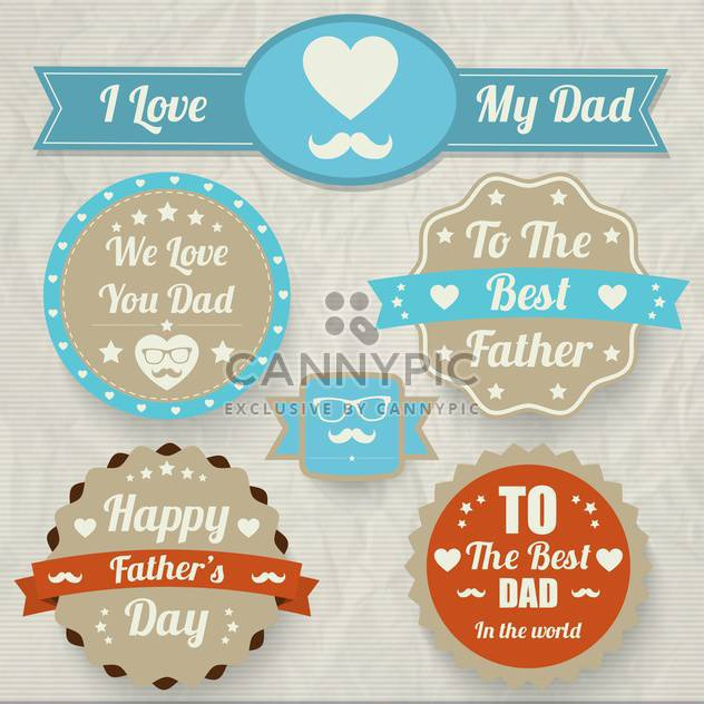 happy father's day set - Free vector #134375