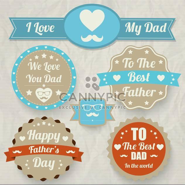 Satz der glückliche Vater-Tag - Free vector #134375