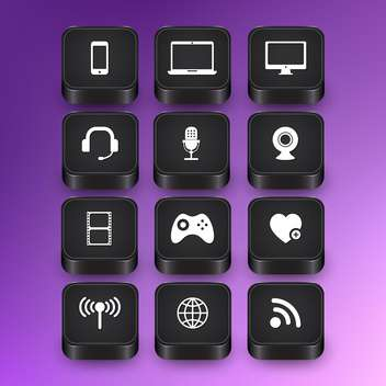 computer web icons set - vector #134395 gratis