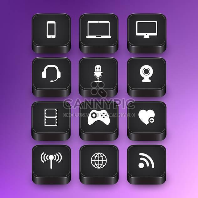 computer web icons set - Free vector #134395