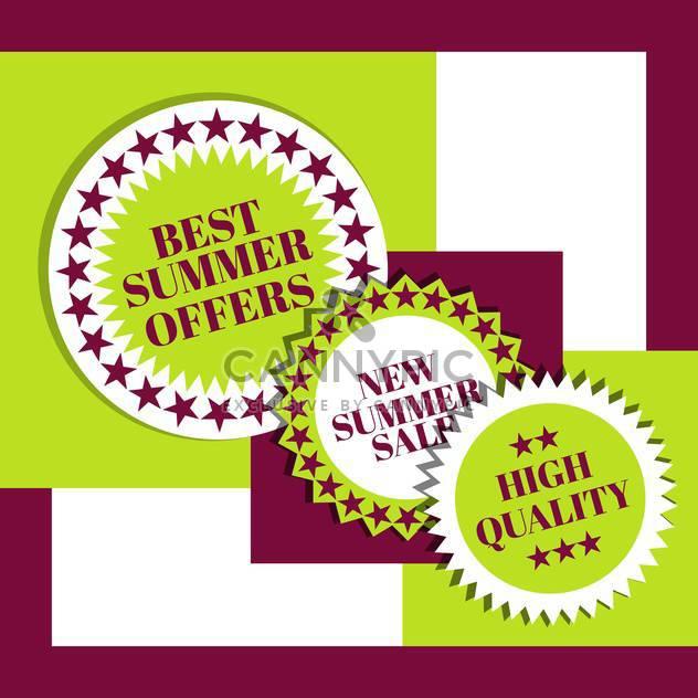 Sommer Einkaufen Verkaufs-Zeichen - Kostenloses vector #134415