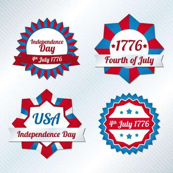 usa independence day symbols - vector gratuit #134505