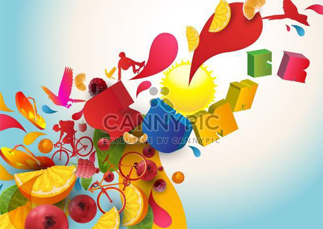summer holidays vacation background - Free vector #134545