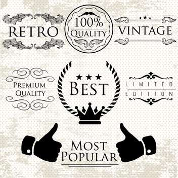 set of labels for premium quality items - vector gratuit #134565