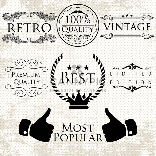 set of labels for premium quality items - Free vector #134565