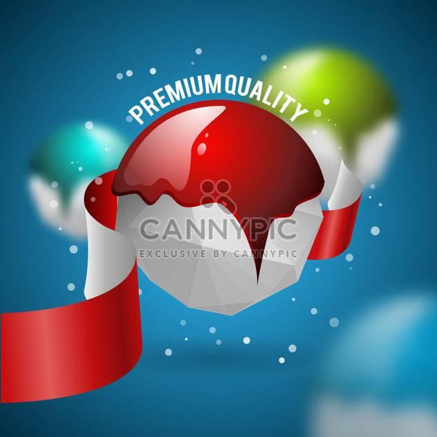 premium quality vector label - Free vector #134575