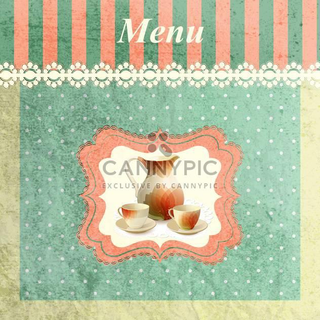 restaurant menu vintage background - Free vector #134665