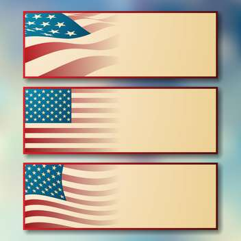 Independence day website header set - Free vector #134685
