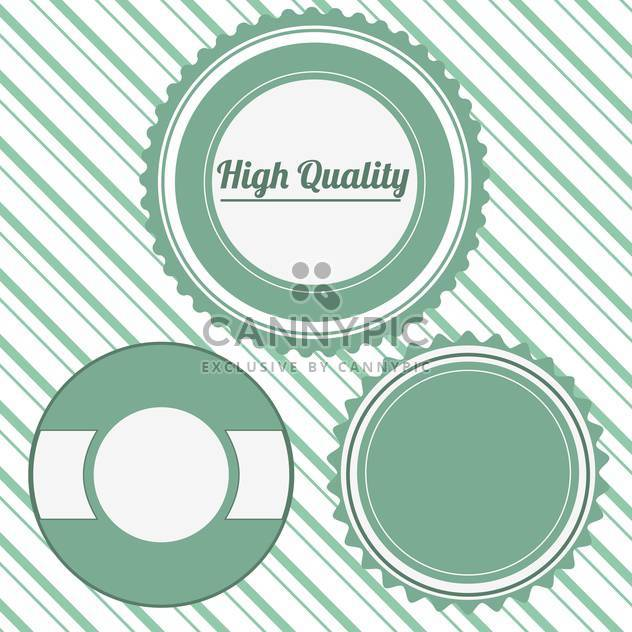 high quality vector badges set - Free vector #134715