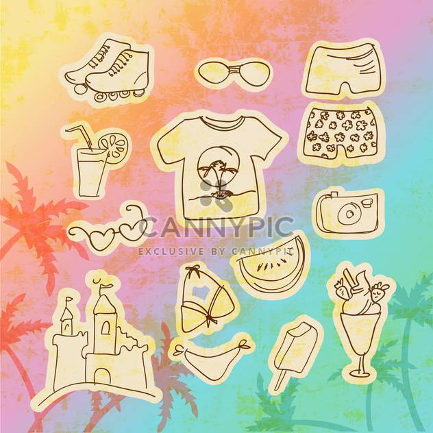 vector set of travel icons - Free vector #134725