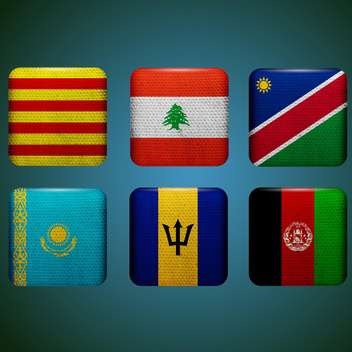 world countries vector flags - vector gratuit #134755