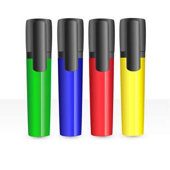 colorful markers set illustration - vector #134795 gratis