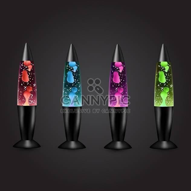 vector lava lamp set illustration - Free vector #134805