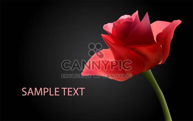Vektor-Hintergrund mit roten Rosen - Free vector #134825