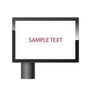 blank horizontal billboard with place for text - Kostenloses vector #134835