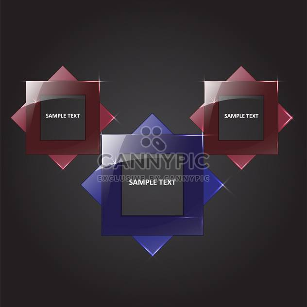 vector set of square banners - Free vector #134865