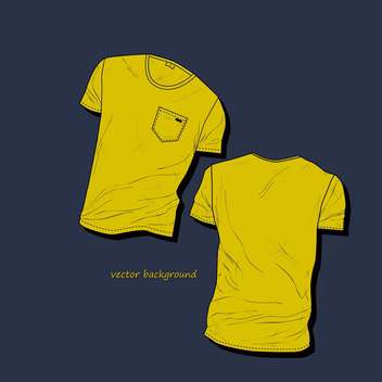 men's t-shirt design template - vector gratuit #134925