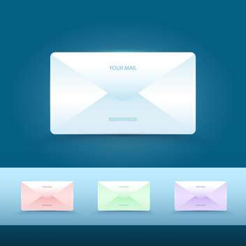 set of vector email icons - vector gratuit #134935