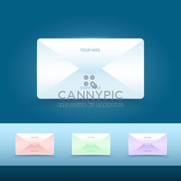 set of vector email icons - Free vector #134935