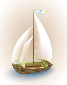 old ship with sails vector illustration - vector #134955 gratis