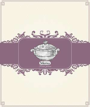 vintage menu for restaurant, cafe or bar - vector #134995 gratis