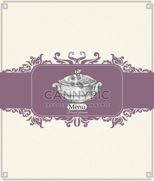 Jahrgang Menü für Restaurant, Café oder bar - Kostenloses vector #134995